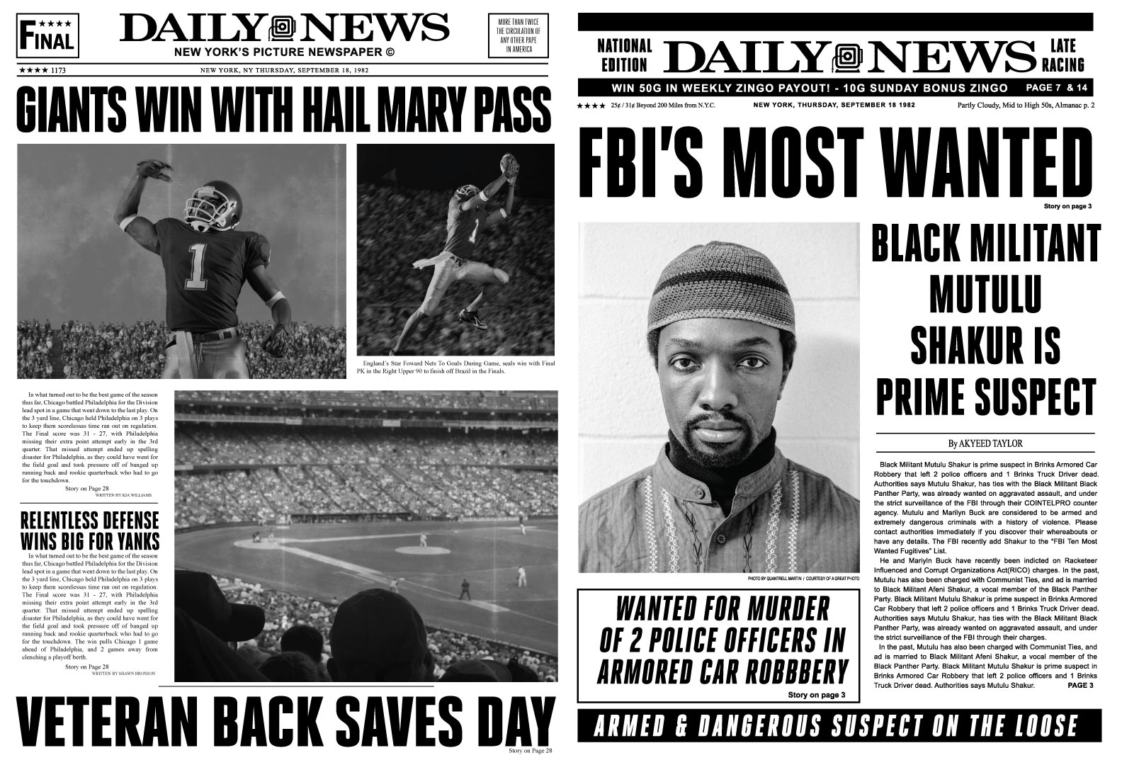 A New York Daily News Paper-Period